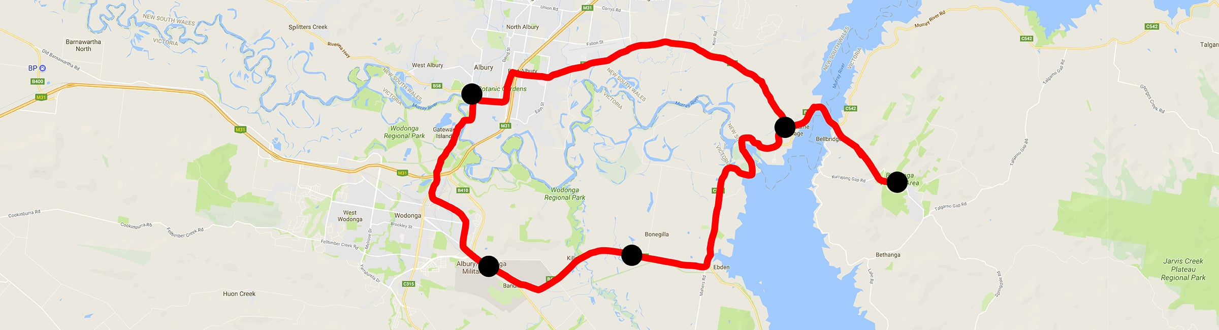 Day Trip - Lake Hume Loop - Albury Taxis