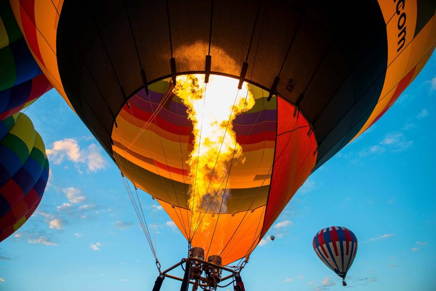 Hot Air Ballooning Transport Image